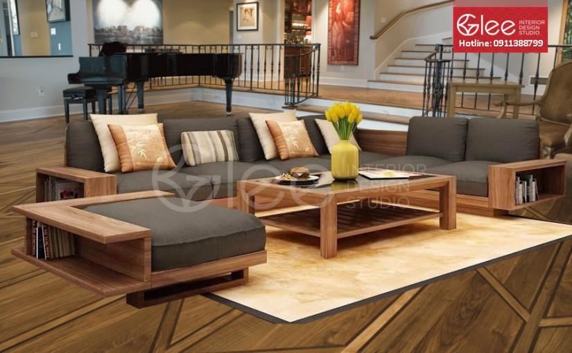 Sofa gỗ óc chó đẳng cấp – GSG23