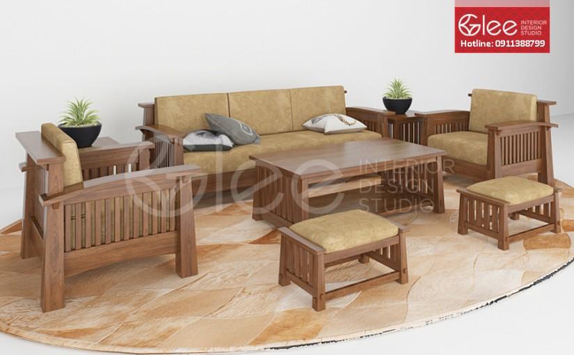 Sofa gỗ đẹp – GSG03