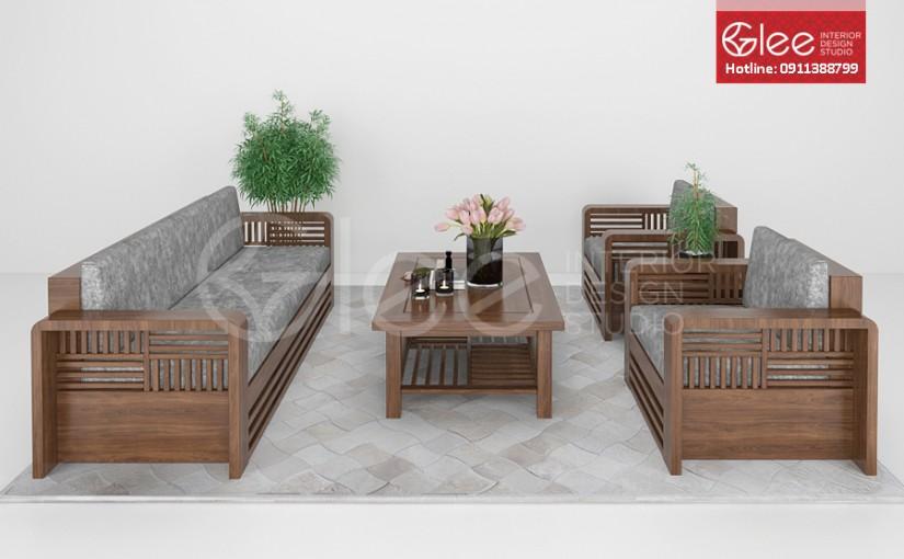 Sofa gỗ tự nhiên đẹp – GSG04