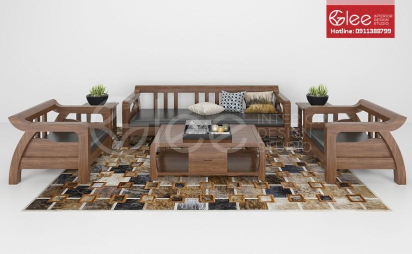 Bàn ghế sofa gỗ đẹp – GSG06