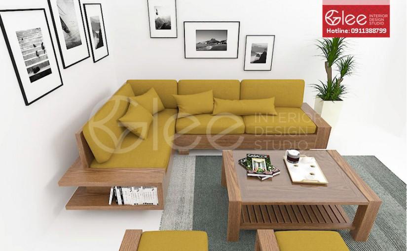 Bàn ghế sofa gỗ sồi Mỹ – GSG10