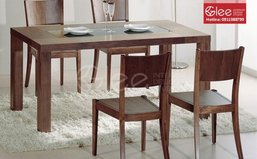 Bộ bàn ăn 4 ghế giá rẻ nhất tại Hà Nội