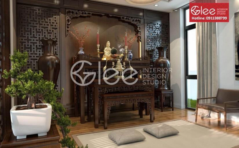 Gợi ý một số mẫu bàn thờ gỗ mít đẹp tại nội thất Gleehome