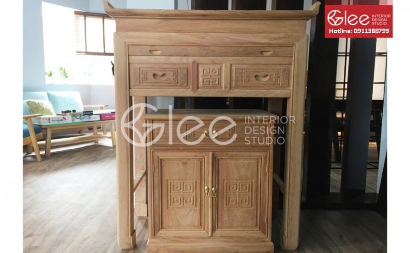 Bàn thờ gỗ mít giá rẻ tại Hà Nội
