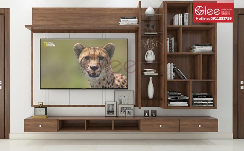 Kệ tivi kết hợp với tủ rượu vẻ đẹp sang trọng, thời thượng cho phòng khách nhà bạn