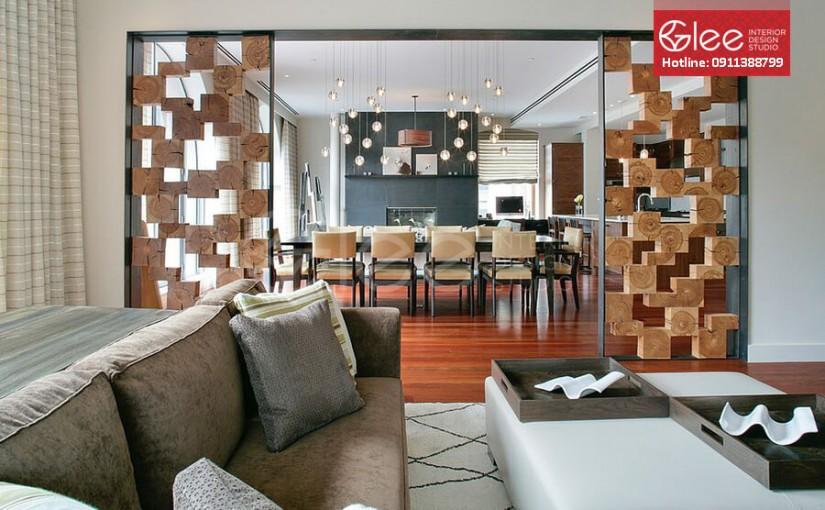 [Lựa chọn] Vách ngăn hoa văn trang trí cho phòng khách chung cư